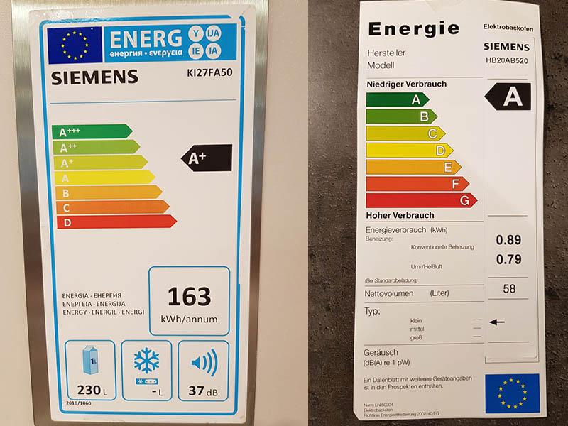 Angebote Küchen AV1010 Energieklasse Siemens Wollenberg