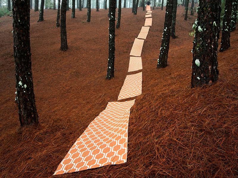 Accessoires Teppiche Kunststoff pappelina orange Wollenberg