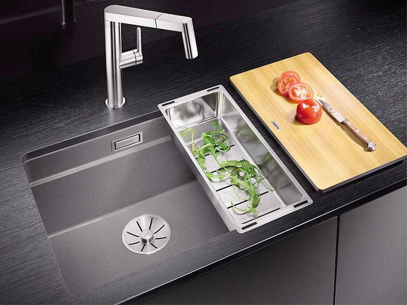 Küchentechnik Wollenberg Etagenspüle Etagaon-Silgaranit PuraDur