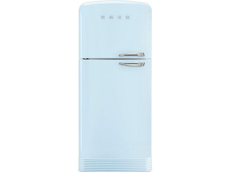 Küchentechnik Wollenberg-Kühl-Gefrierschrank Smeg-blau